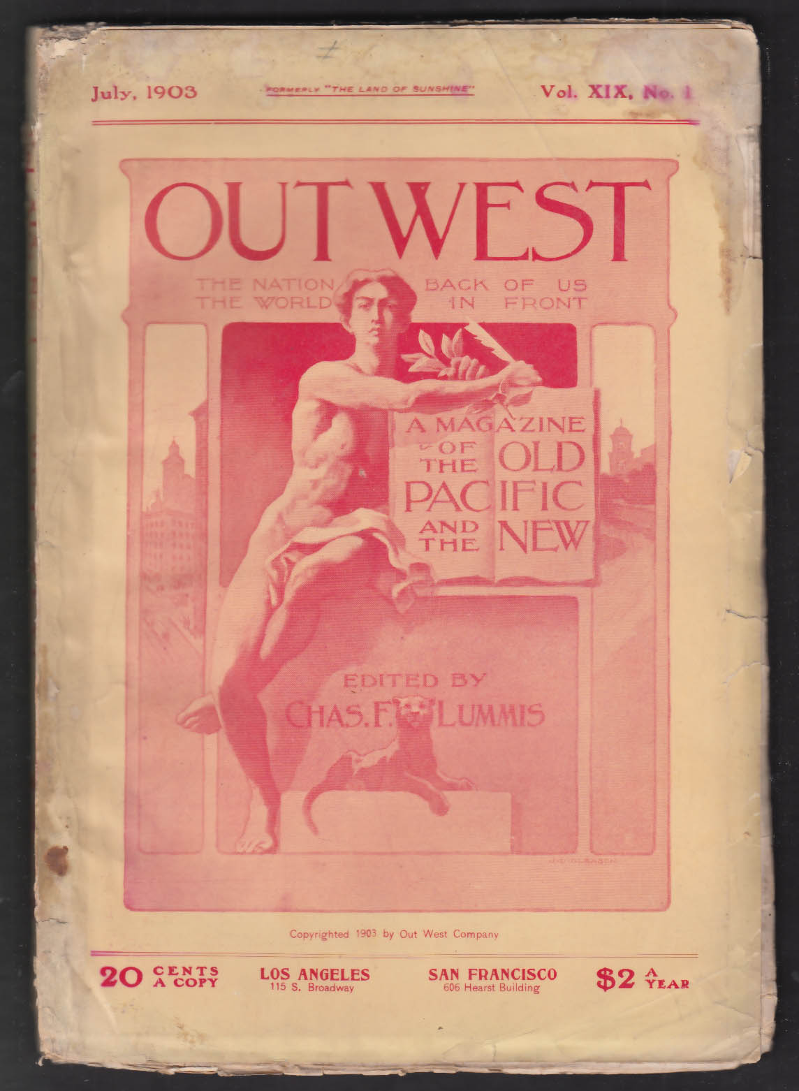OUT WEST Grant Wallace Chas Lummis Quaker Indians Teddy Roosevelt + 7 1903