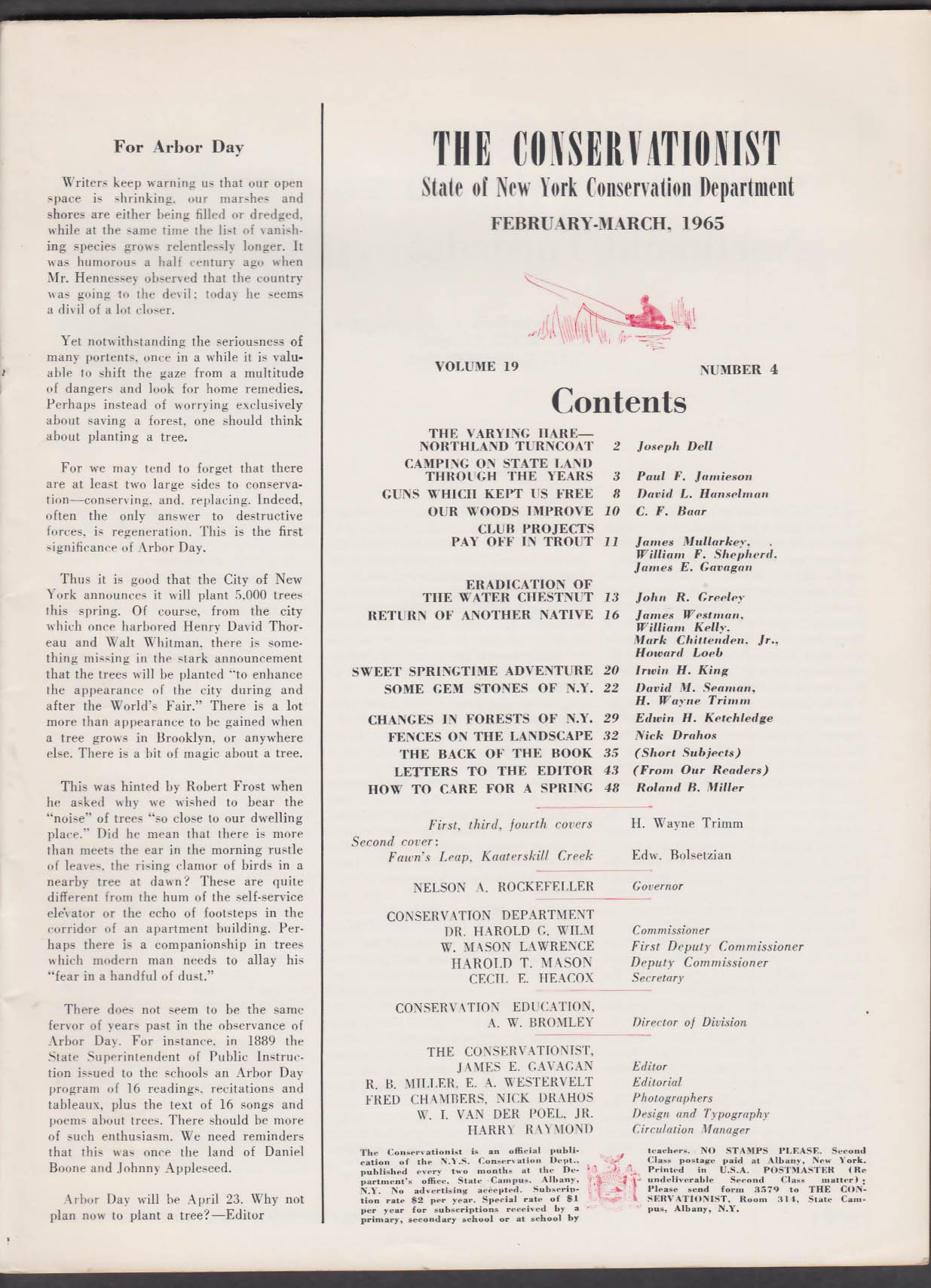 THE CONSERVATIONIST State of New York Conservation Department 2-3 1965