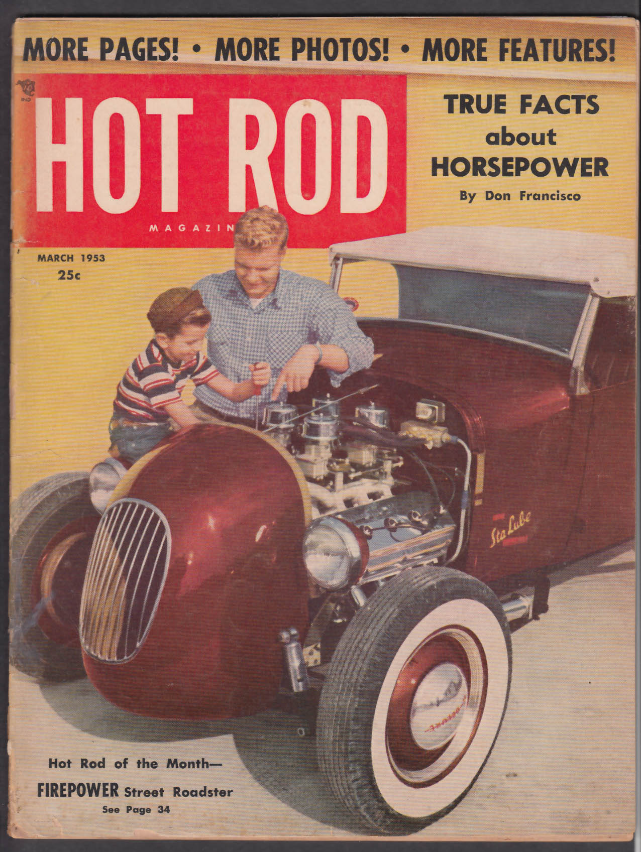 HOT ROD Pan-American Road Race Lincoln 1939 Ford Model T ++ 3 1953