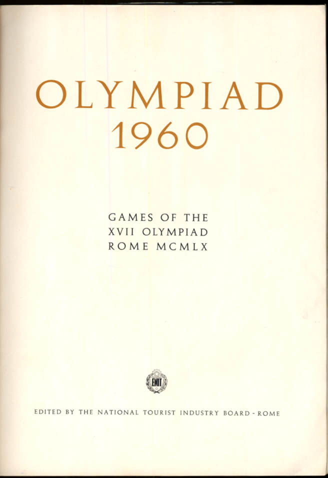 Image for Rome Olympics Official Program 1960