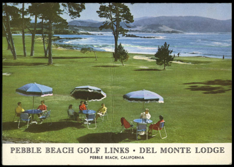 Del Monte Lodge Pebble Beach Golf Links scorecard CA ca 1960s