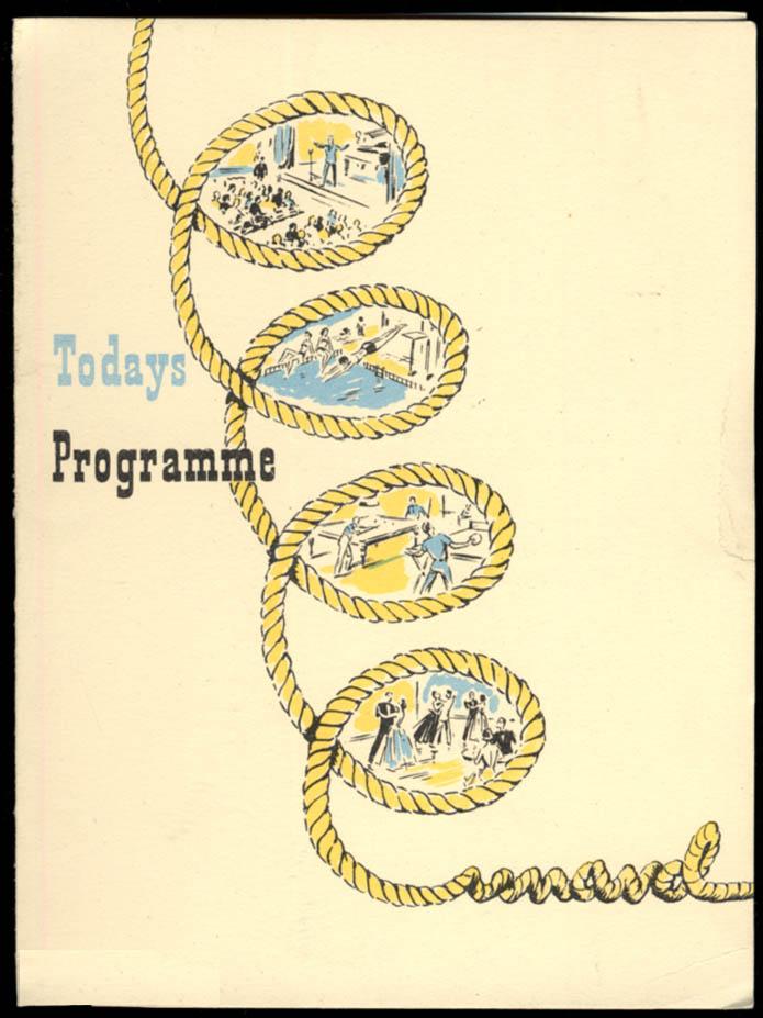 Cunard Line R M S Mauretania Programme of Events 6/30 1952