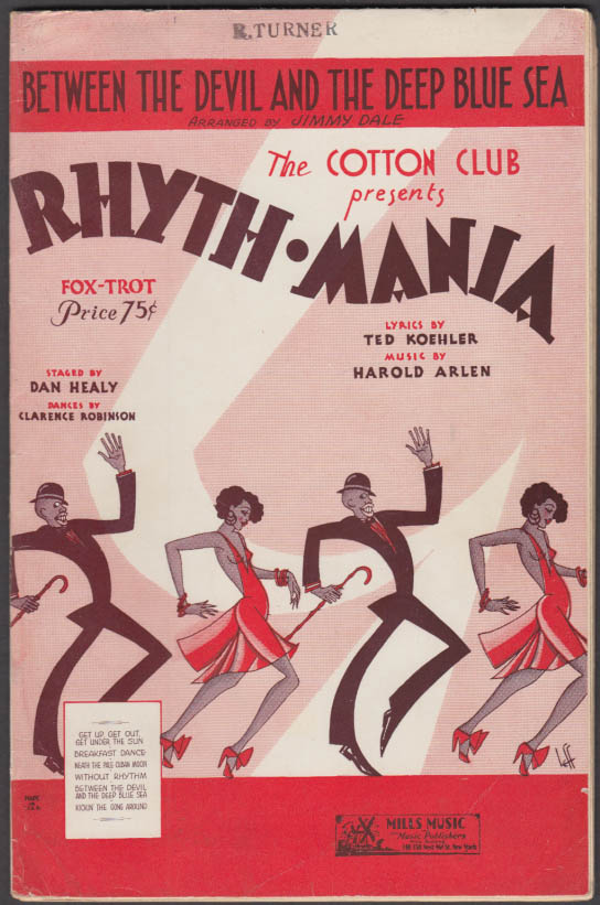 Cotton Club presents Between Devil & the Deep Blue Sea complete arrangement 1931