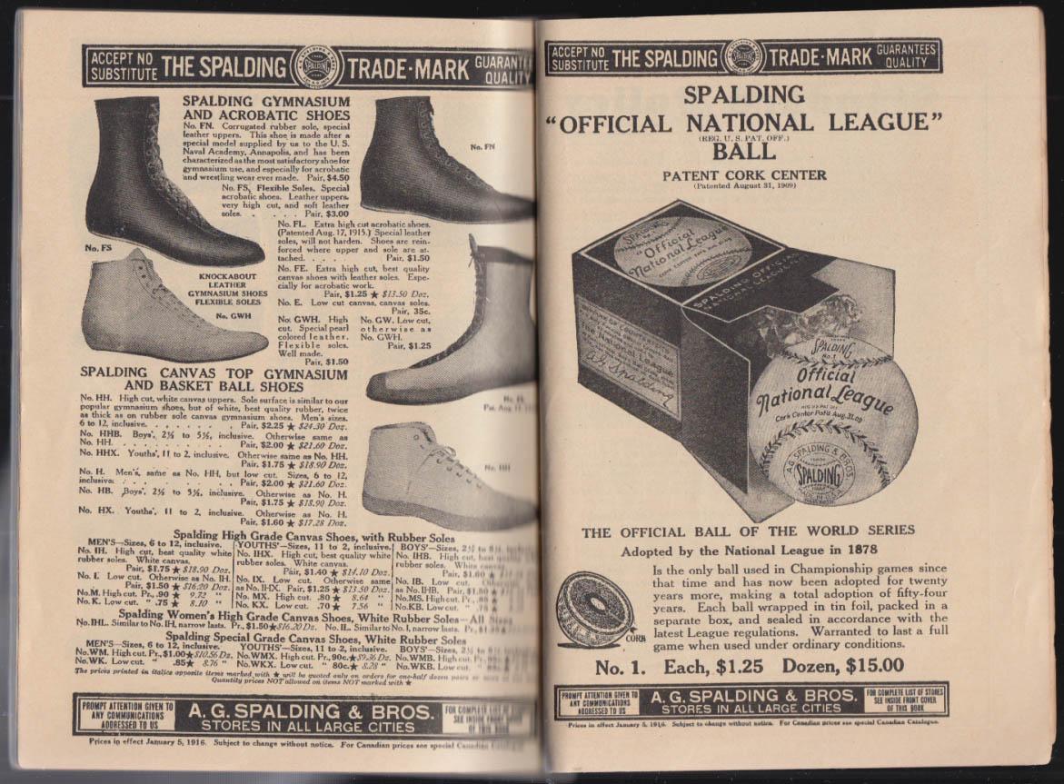 Spalding's Athletic Library Twenty-Minute Exercises booklet 1916 w/ catalog