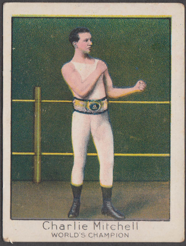 Heavyweight boxer Charlie Mitchell Mecca Cigarettes card T220 1910