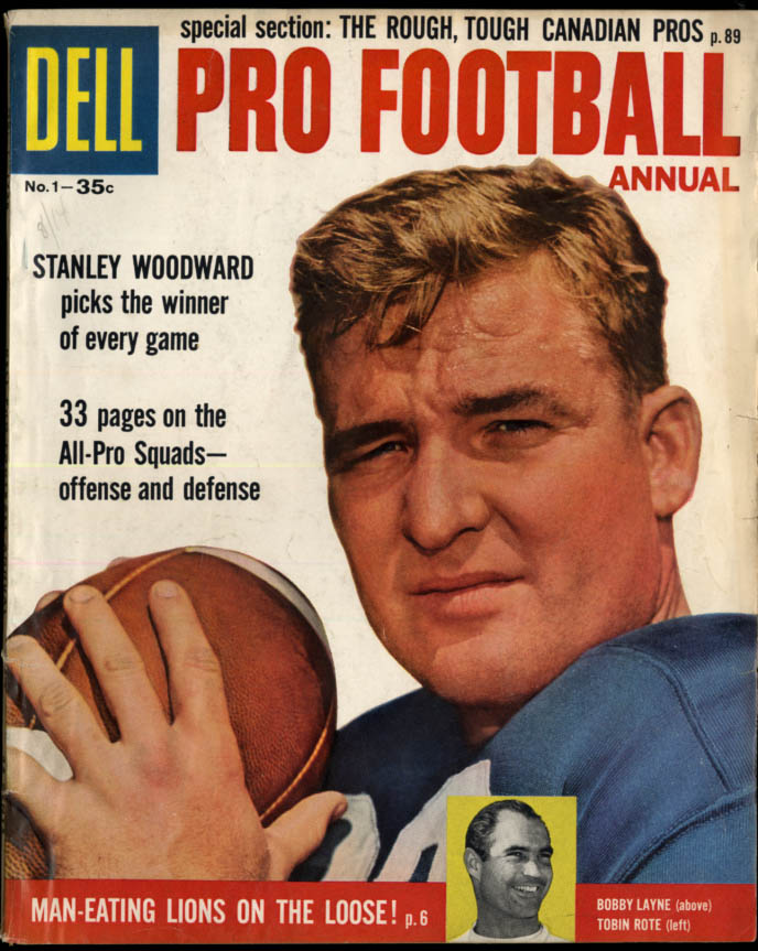 Dell PRO FOOTBALL ANNUAL 1958 Bobby Laynbe Tobin Rote; All-Time All-Pro Teams