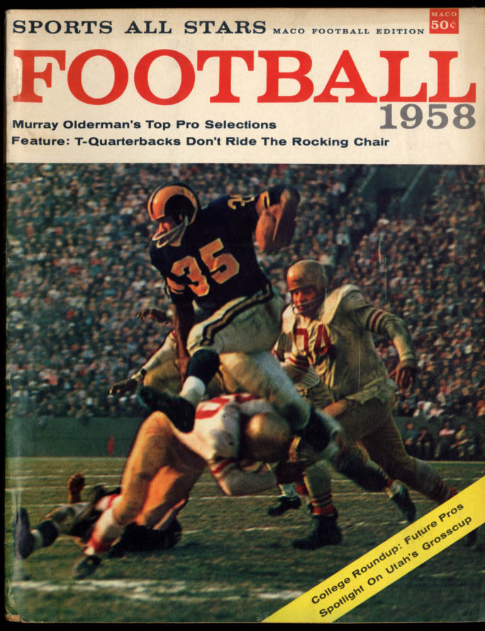 Sports All Stars Maco FOOTBALL 1958 Y A Tittle Jim Brown Gifford Lenny Moore +