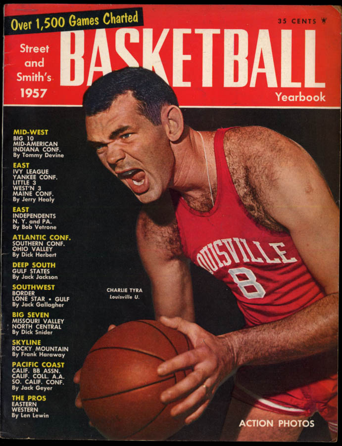 Street & Smith's BASKETBALL YEARBOOK 1957 Charlie Tyra regional reports etc