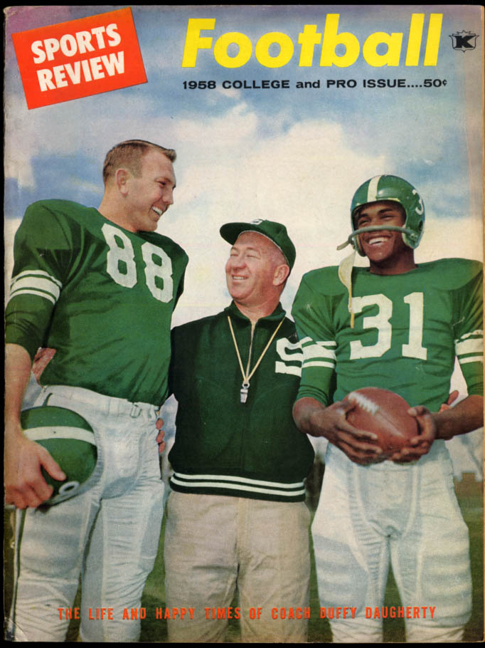 SPORTS REVIEW College & Pro FOOTBALL issue 1958 Duffy Daugherty John David Crow