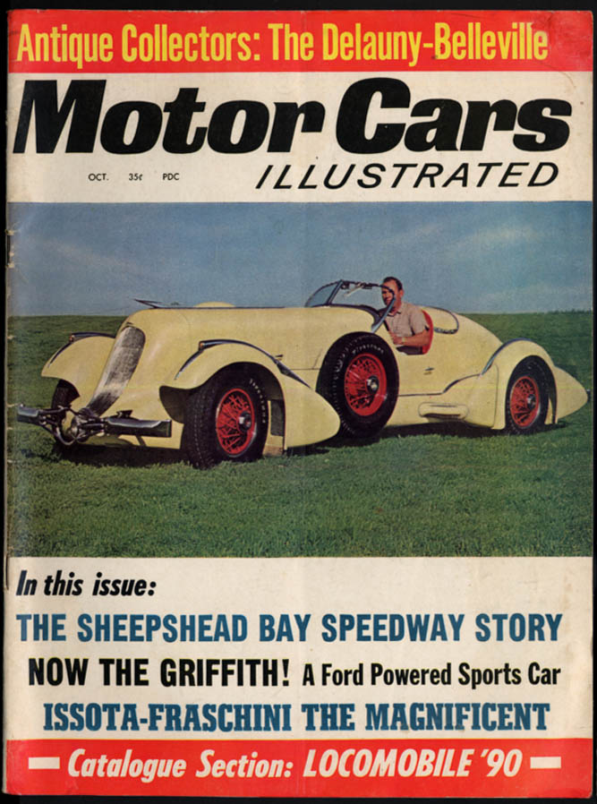 MOTOR CARS ILLUSTRATED 10 1964 Isotta-Fraschini Griffith Sheepshead Bay Speedway