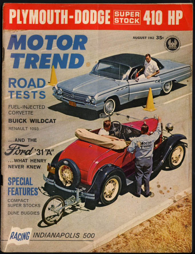 MOTOR TREND 8 1962 Buick Wildcat Corvette Ramcharger 410HP tests Model A Ford
