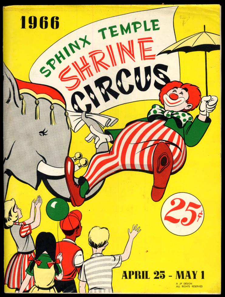 1966 Sphinx Temple Shrine Circus program Hartford CT