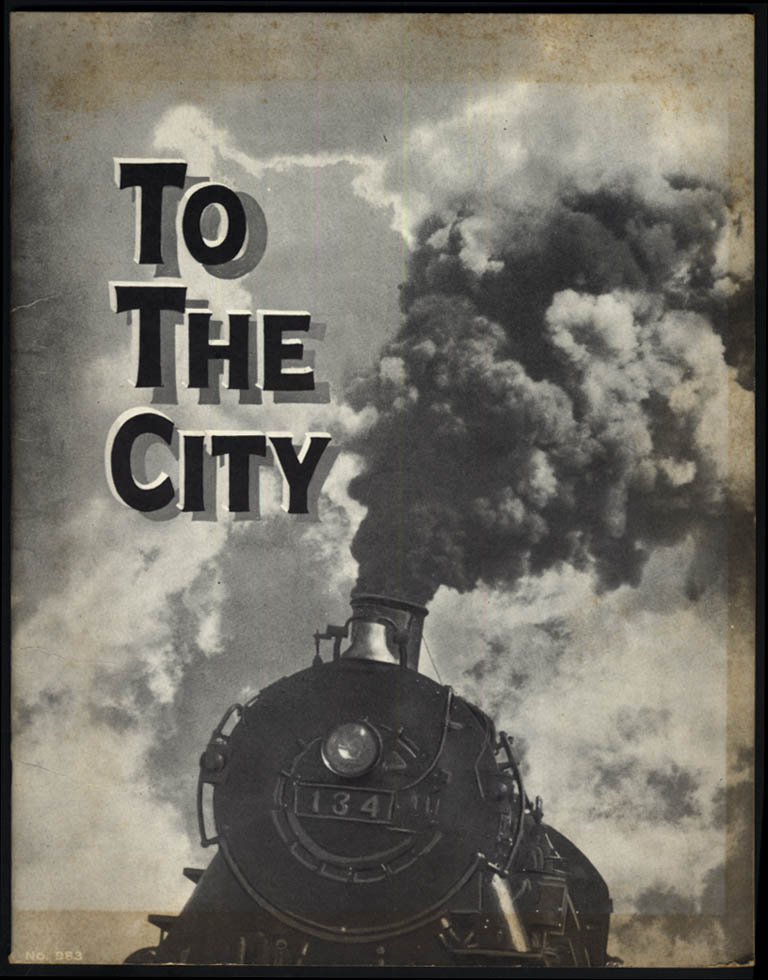 John Y Beaty: To the City children's picture book Saalfield 1933