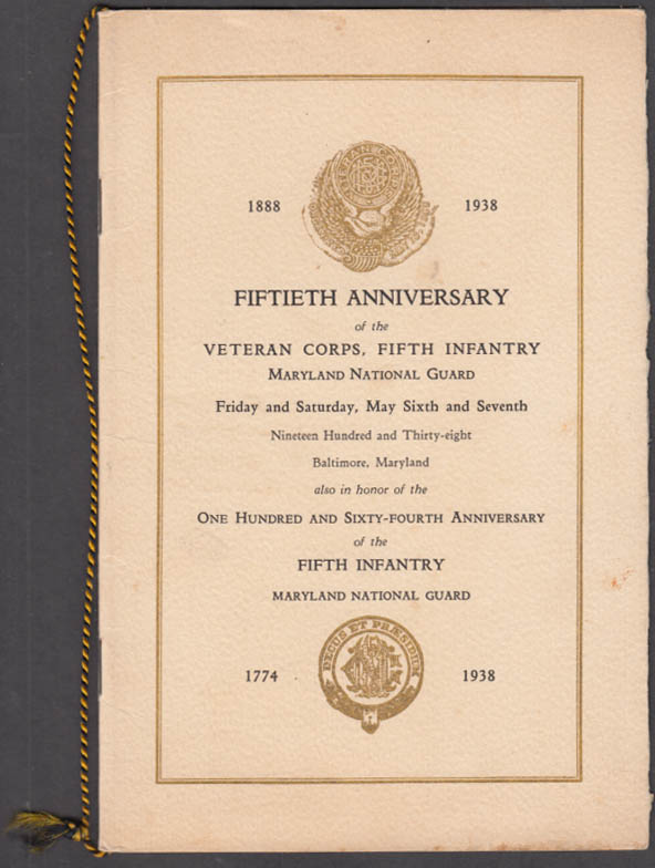 Maryland National Guard 5th Infantry Anniversary Program 1888-1938