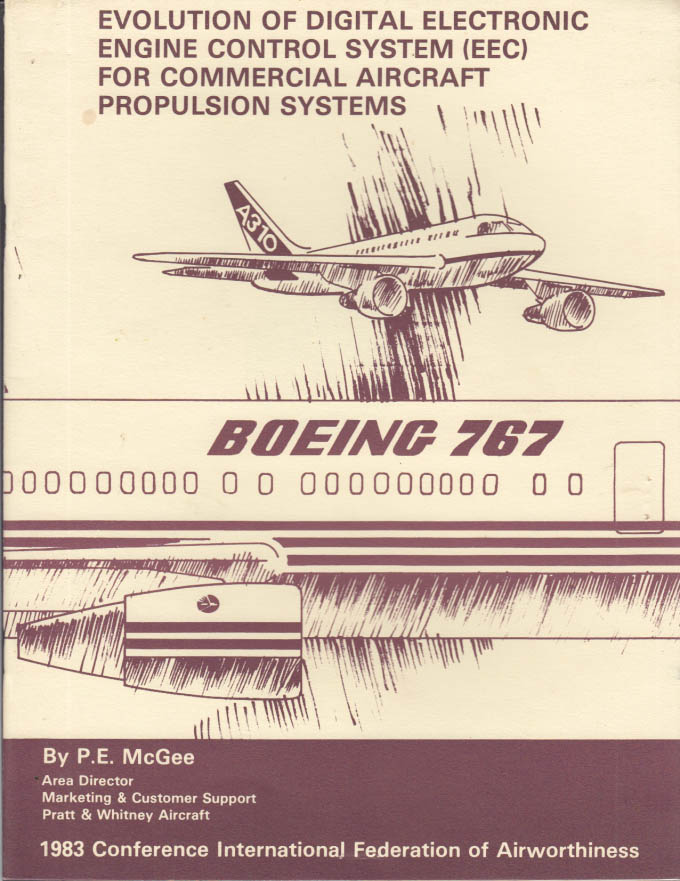 Digital Electronic Engine Control Pratt & Whitney Study brochure 1983