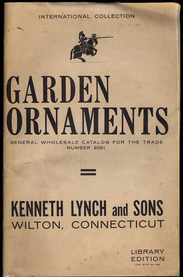 Image for Kenneth Lynch & Sons Wilton CT Garden Ornaments Catalog 1961