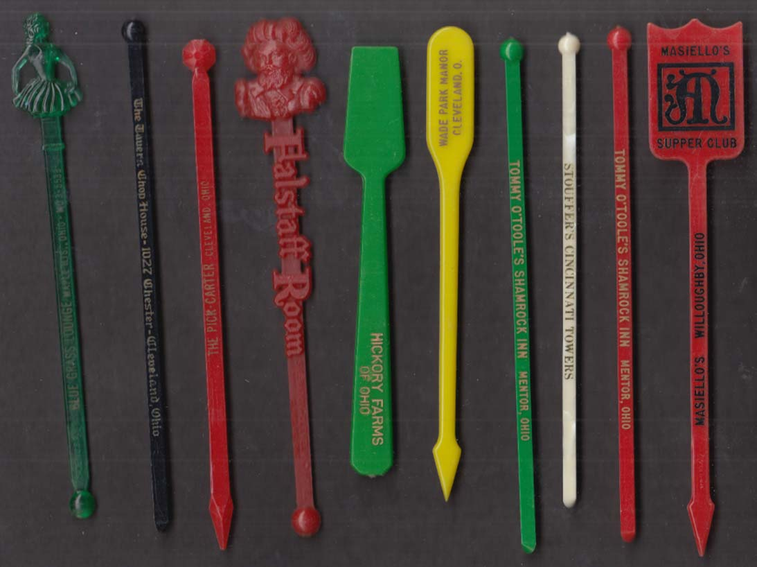 10 Ohio restaurant swizzle sticks Cleveland Willoughby Mentor Cinciinati +
