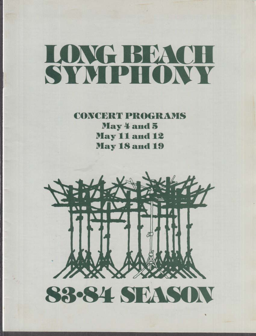 Long Beach Symphony Concert Programs 1983-1984 Season