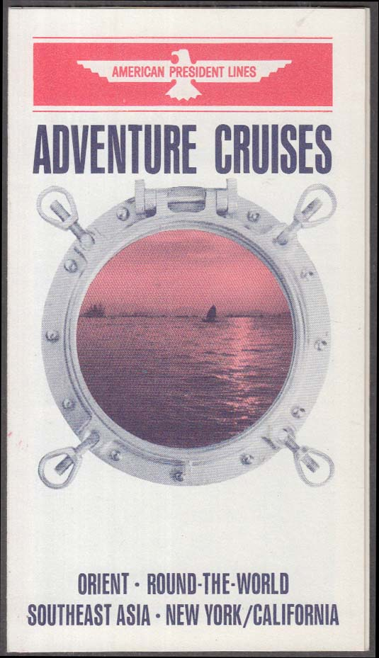 American President Lines Adventure Cruises Far East folder 1963