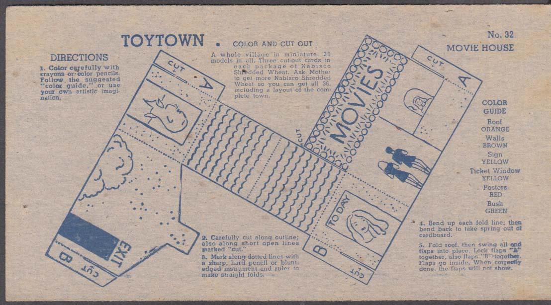 Nabisco Toytown card #31 General Store 1946