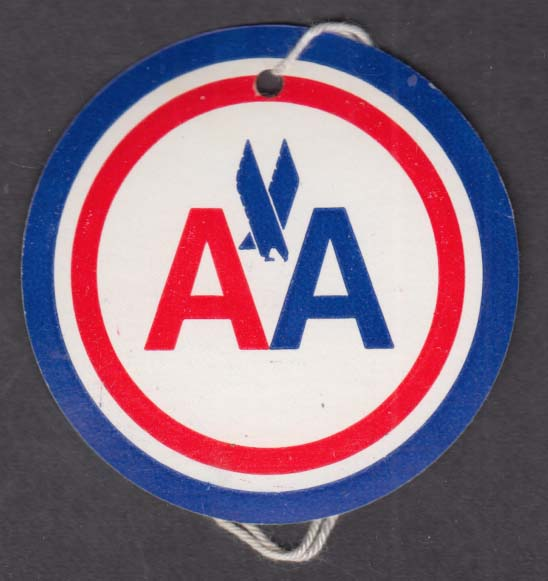 American Airlines Unchecked Articles Identification Tag unused