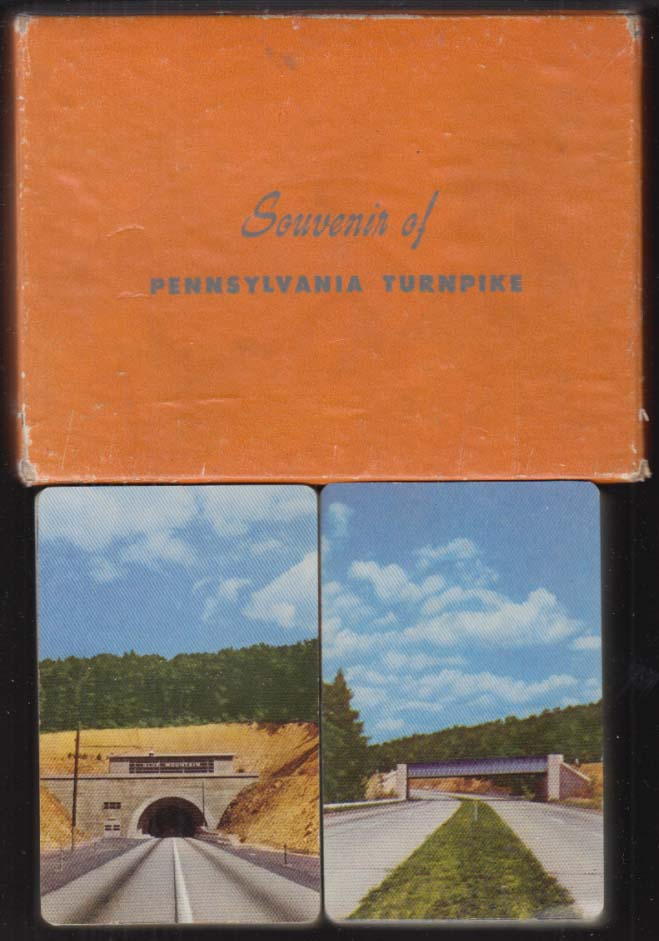 Pennsylvania Turnpike double deck of bridge playing cards 1940s Howard Johnson's