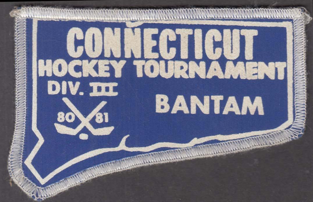 Connecticut Bantam Hockey Tournament Division III 1980-1981 cloth patch