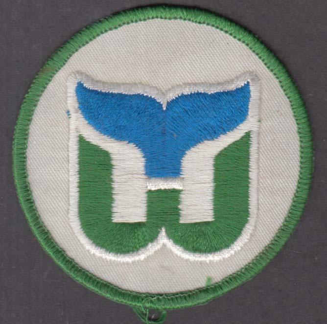 Hartford Whalers hockey club logo cloth patch ca 1970s unused