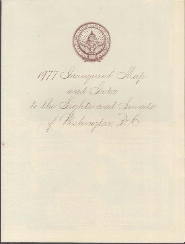 1977 Jimmy Carter Inaugural Guide to Washington