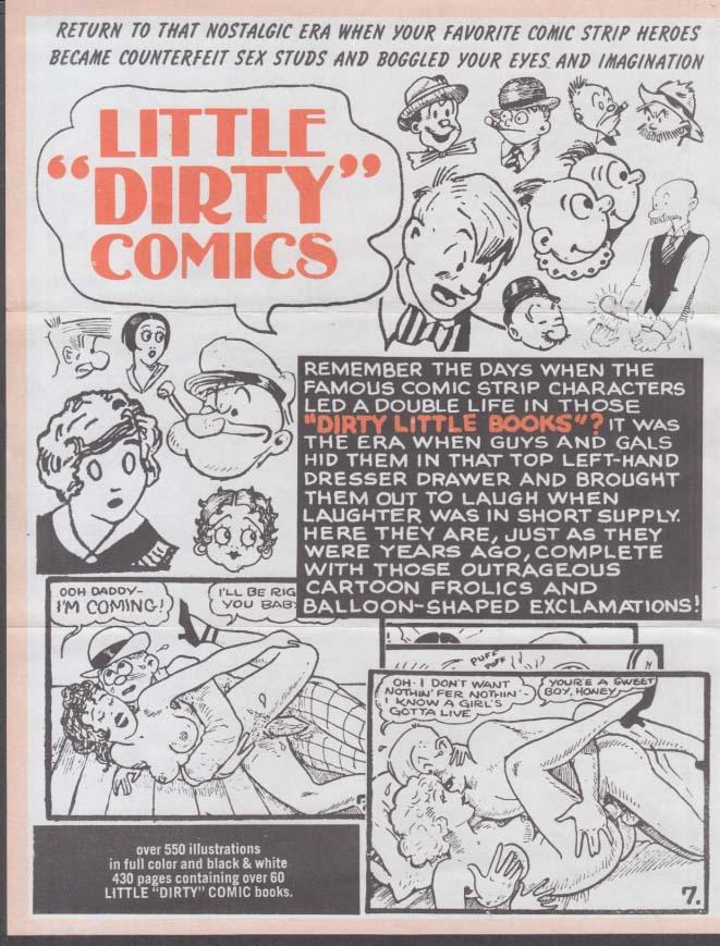 Famous Dirty Little Sex Comics Comix sales flyers 1970s