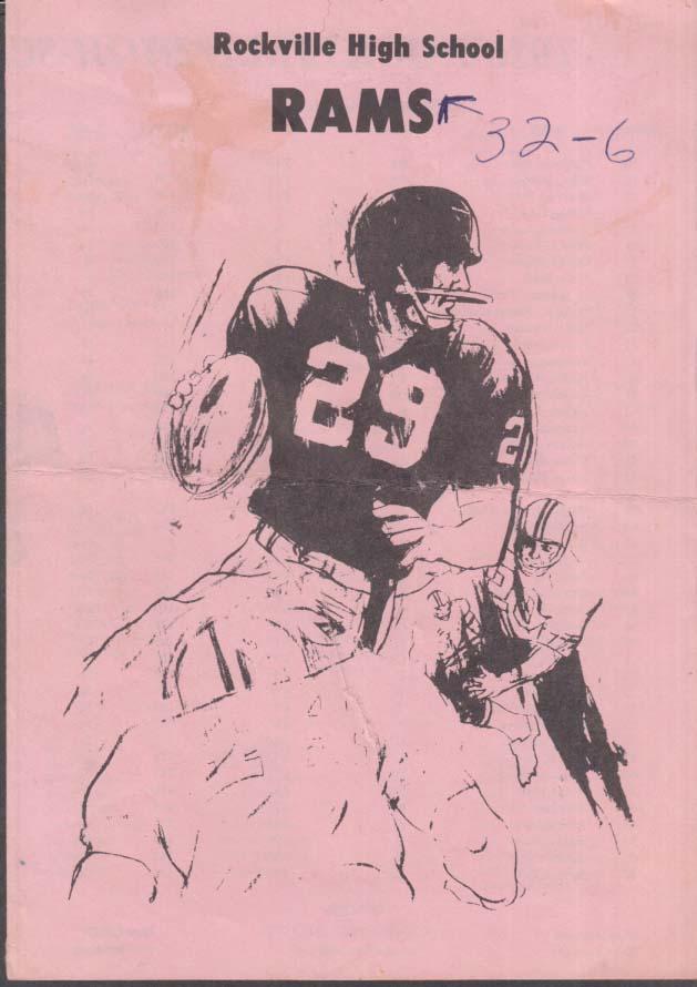 Rockville High School game program 1976 CT