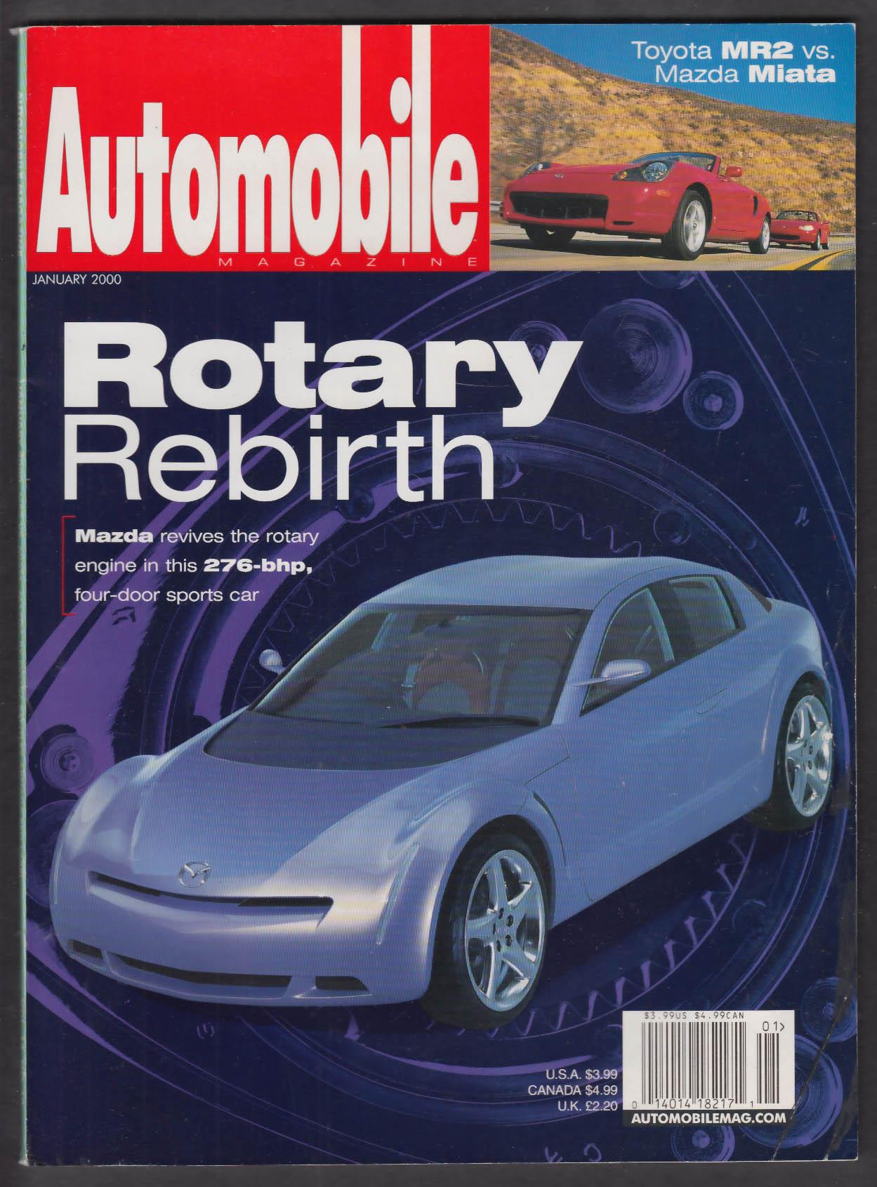 AUTOMOBILE Mazda Rotary Bentley Arnage Chrysler 300M + 1 2000