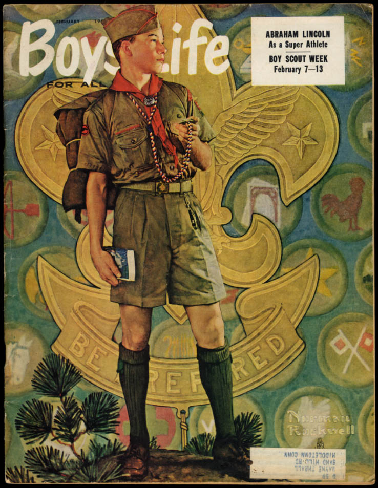 Image for BOYS' LIFE 2 1959 Norman Rockwell cover; Abe Lincoln Athlete; Coast Guard