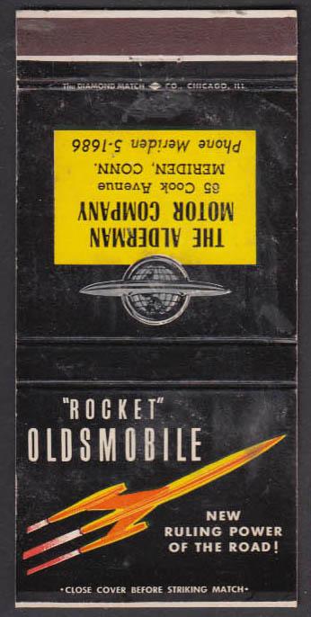 Image for Alderman Motor Company Meriden CT Rocket Oldsmobile matchcover ca 1949