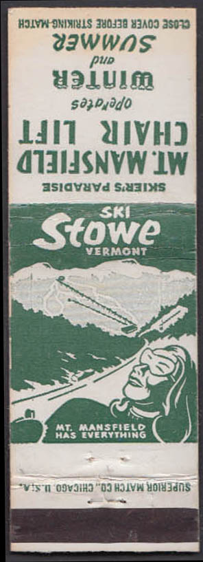 Image for Ski Stowe VT Mt Mansfield Chair Lift matchcover