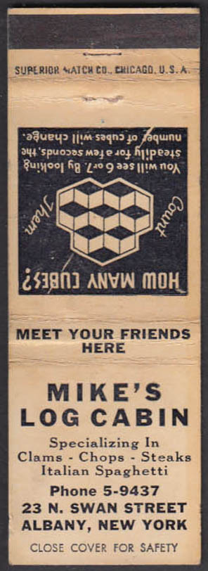 Image for Mike's Log Cabin Restaurant 23 N Swan Street Albany Nymatchcover