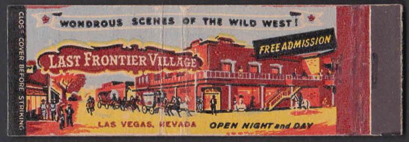 Image for Last Frontier Village Golden Slipper Saloon & Casino Las Vegas NV matchcover