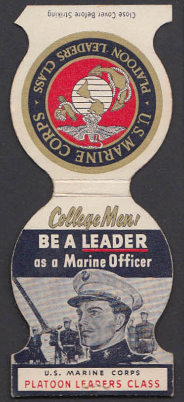 Image for College Men! Be a Leader as a United States Marine Officer matchcover