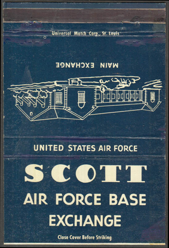 Image for Scott Air Force Base Exchange billboard matchcover St Clair County IL