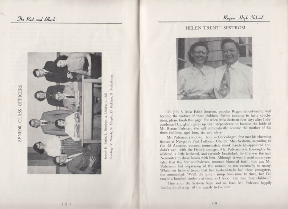 Rogers High School THE RED & BLACK monthly 6/16 1950 Newport RI