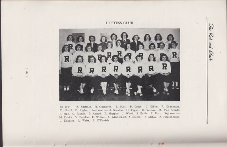 Rogers High School THE RED & BLACK monthly 6/17 1949 Newport RI