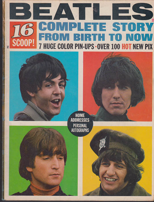 16 Magazine: BEATLES COMPLETE STORY 1965 John Paul George & Ringo