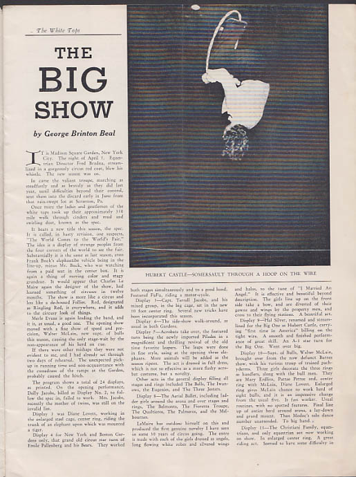 WHITE TOPS Circus Magazine 4-5 1939 Ringling Bros, Clown Rocco Parker & Watts +