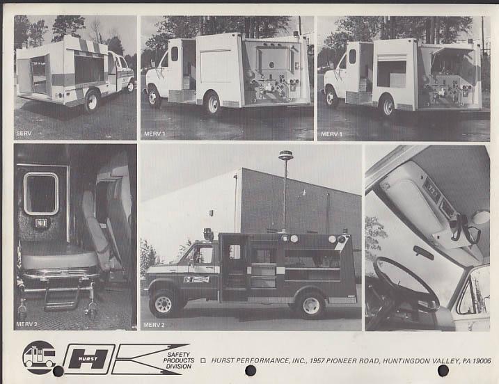 Hurst Performance MERV-2 Emergency Response Vehicle sell sheet 1970s
