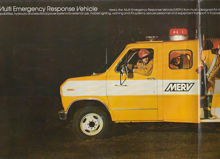 Hurst Performance MERV Emergency Response Vehicle sales folder 1976