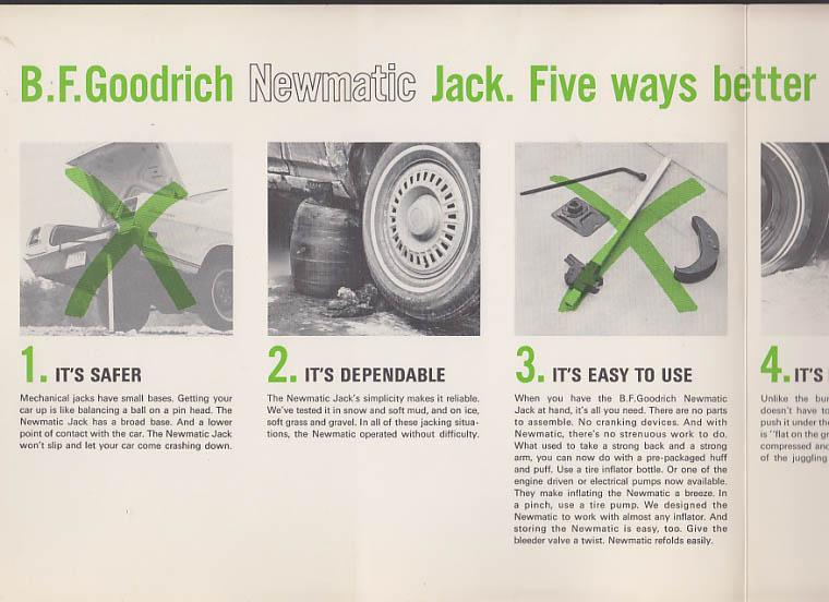 B F Goodrich Newmatic Automobile Jack sales folder 1969