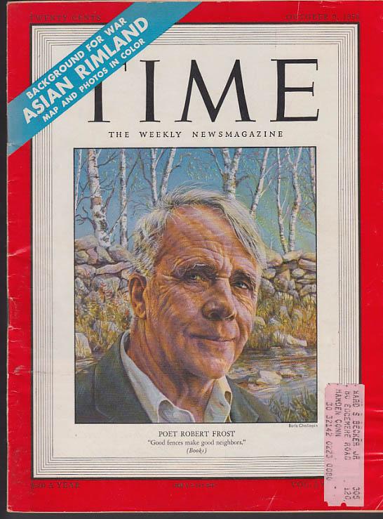 Image for TIME 10/9 1950 Robert Frost Korean War Exzzard Charles-Joe Louis; Phillies +