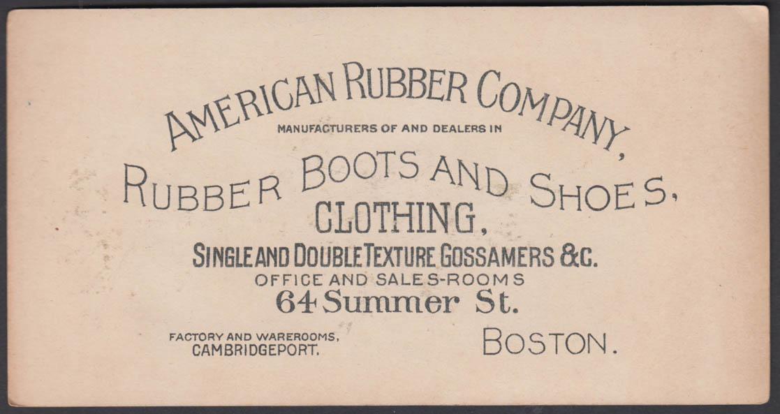 American Rubber Boots & Shoes trade card Danbury Fair 1880