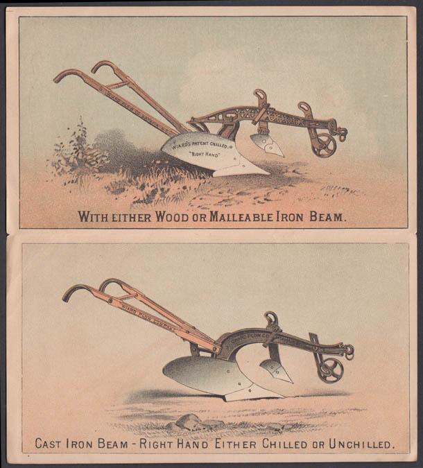 Wiard Hand & Sulky Chilled Farm Plows sales folder 1880s