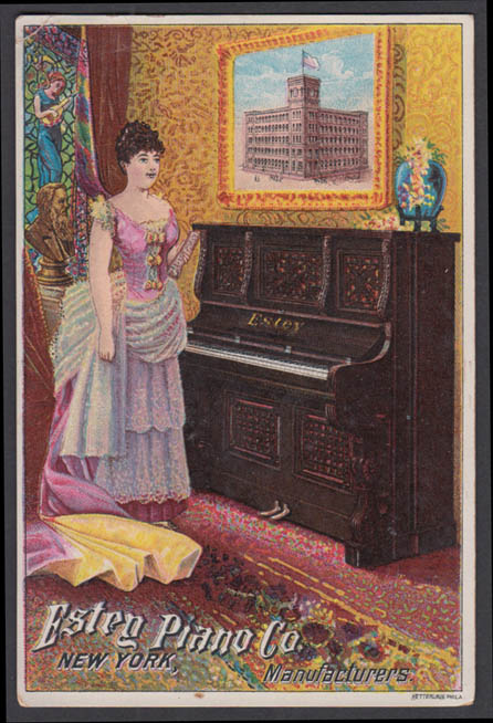 Estey Piano Manufacturers trade card 1880s